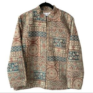 Neutral Tones Tapestry Jacket Large